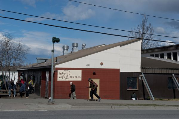 Anchorage officials are considering expanding availability of Bean's Cafe as an overnight shelter in all seasons, as part of an effort to keep people out of camps and centralize services. (Marc Lester / Alaska Dispatch News)