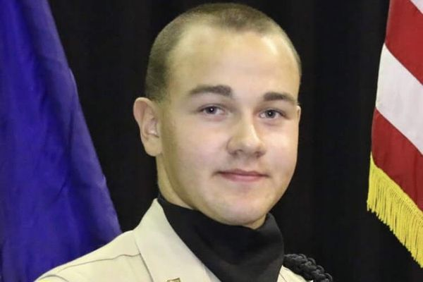 Cody Eyre, 20, was killed in a shooting involving Alaska State Troopers and Fairbanks police officers on Dec. 24, 2017. He is pictured in his Alaska Military Youth Academy uniform. Eyre graduated from the school in 2015. (Photo courtesy of Samantha Eyre-Harrison)