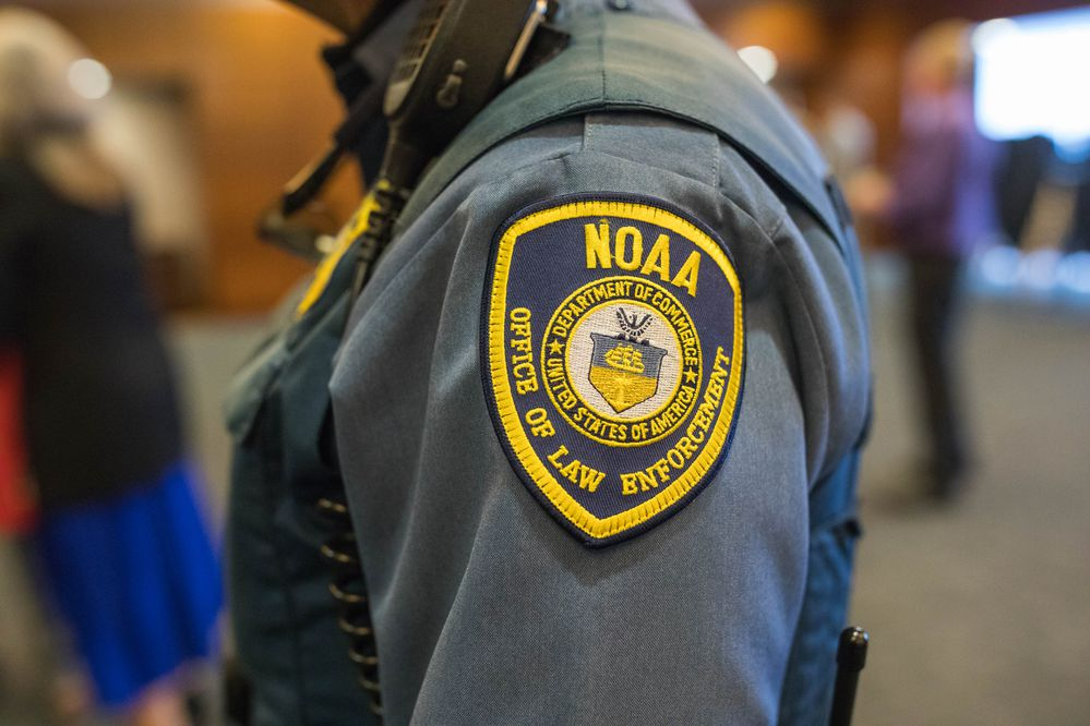 NOAA's law enforcement arm is tasked with enforcing fishery law and protecting marine mammal resources. Photographed Thursday, April 6, 2017 on Joint Base Elmendorf-Richardson. (Loren Holmes / Alaska Dispatch News)