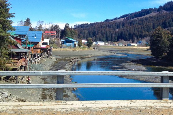 Seldovia, Alaska, on Monday, May 4, 2015. Much of the City of Seldovia is built above Seldovia Slough, with houses propped up on stilts above steep cliffs. (Matt Tunseth / ADN archive 2015)