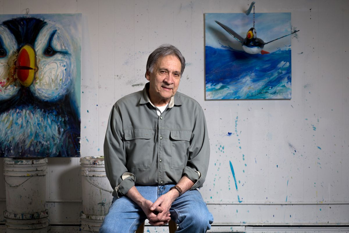 Alvin Amason has been awarded the Rasmuson Distiguished Artist award for 2018. (Photo by Jenny Irene Miller)