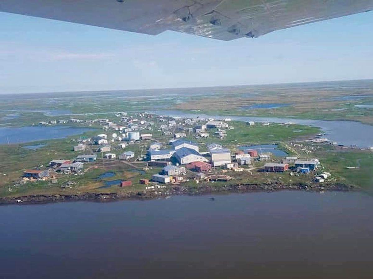 The village of Newtok. (Photo by Jackie Schaeffer/ Alaska Native Tribal Health Consortium)