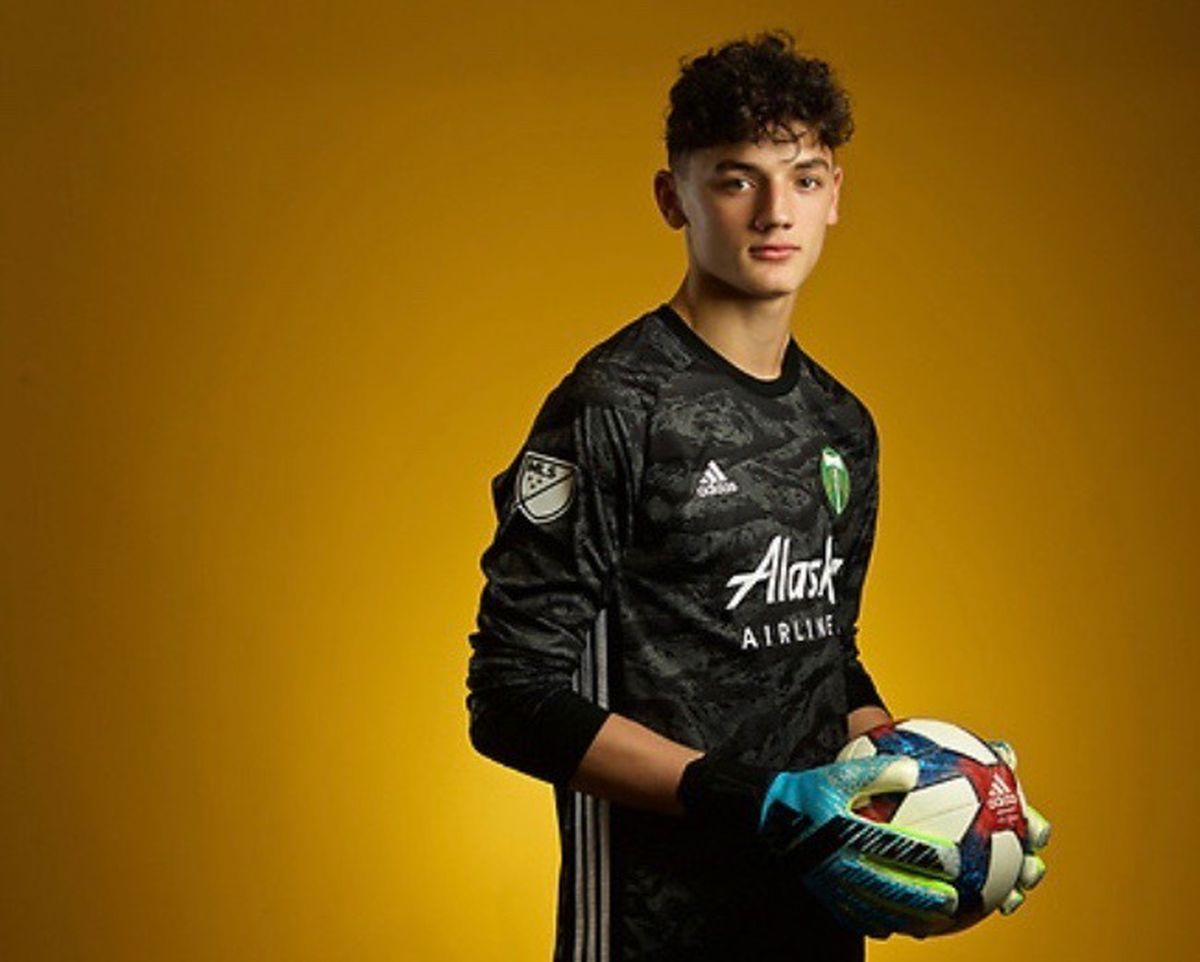 Hunter Sulte of Anchorage signed a Major League Soccer contract with the Portland Timbers, who announced a four-year deal with the goalkeeper on Wednesday. (Photo by Casey Sawyer)