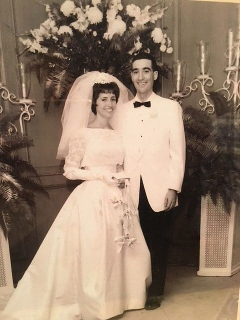 Harriet and Jerry Fridkin at their wedding in 1963. (Family photo)