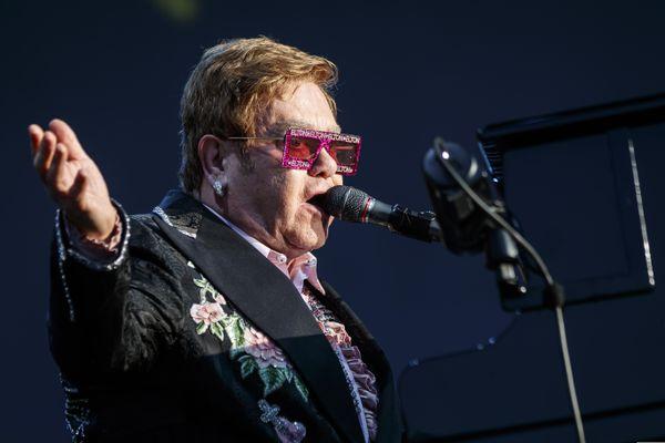 FILE - British singer Elton John performs during his