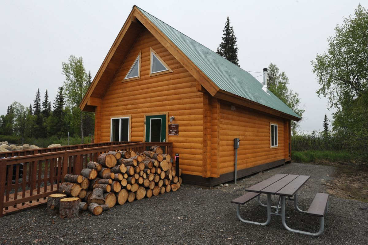 Denali public use cabin at the new K'esugi Ken Campground in Denali State Park located at mile 135.4 of the Parks Highway on Sunday, May 28, 2017. (Bill Roth / Alaska Dispatch News)​
