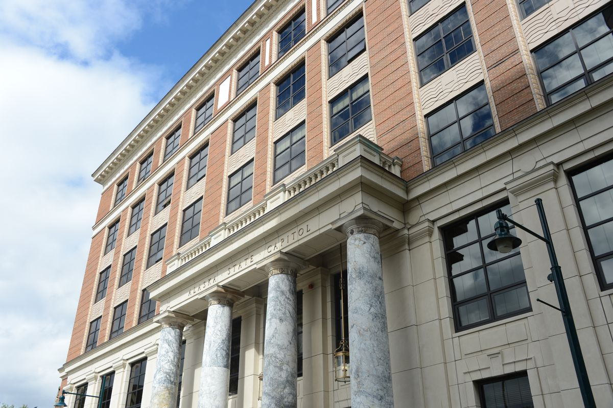 The Alaska State Capitol on Wednesday, June 23, 2021, the first day of the year's second special legislative session. (James Brooks / ADN)