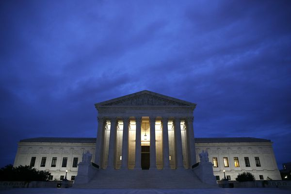 The Supreme Court building is seen at dawn on Capitol Hill in Washington, Thursday, Sept. 27, 2018. The Senate Judiciary Committee is scheduled to hear Thursday from Supreme Court nominee Brett Kavanaugh and Christine Blasey Ford, the woman who says he sexually assaulted her. (AP Photo/Patrick Semansky)