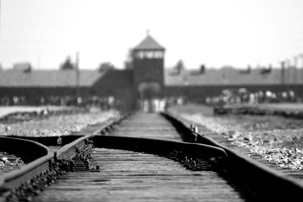 The tracks leading to death at Auschwitz-Birkenau in Poland. (Pixabay)