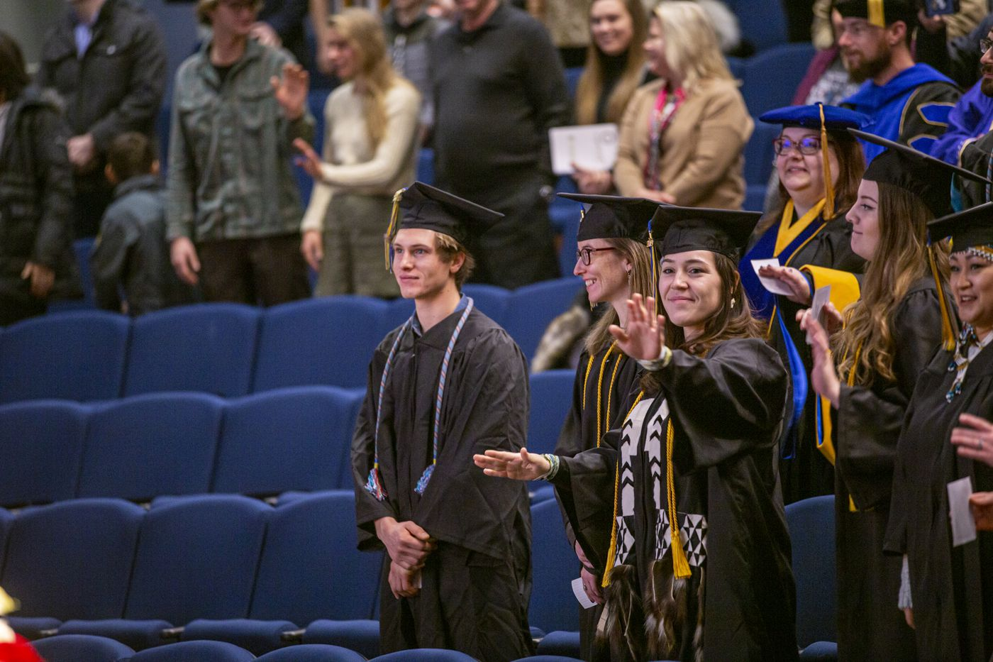 Alaska Pacific University is honored to celebrate the graduation of fall class of 2019, associates, undergrad, grad and doctorate earners. The celebration was held at the Wendy Williamson Auditorium on the campus of the University of Alaska, Anchorage on December 14th, 2019. (Ted Kincaid/Alaska Pacific University)
