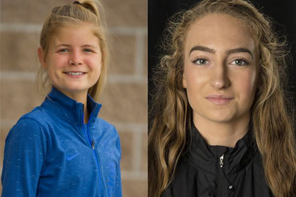 Allie Ostrander (photo by Allison Corona), left, and Dani McCormick (photo from UAA Athletics)