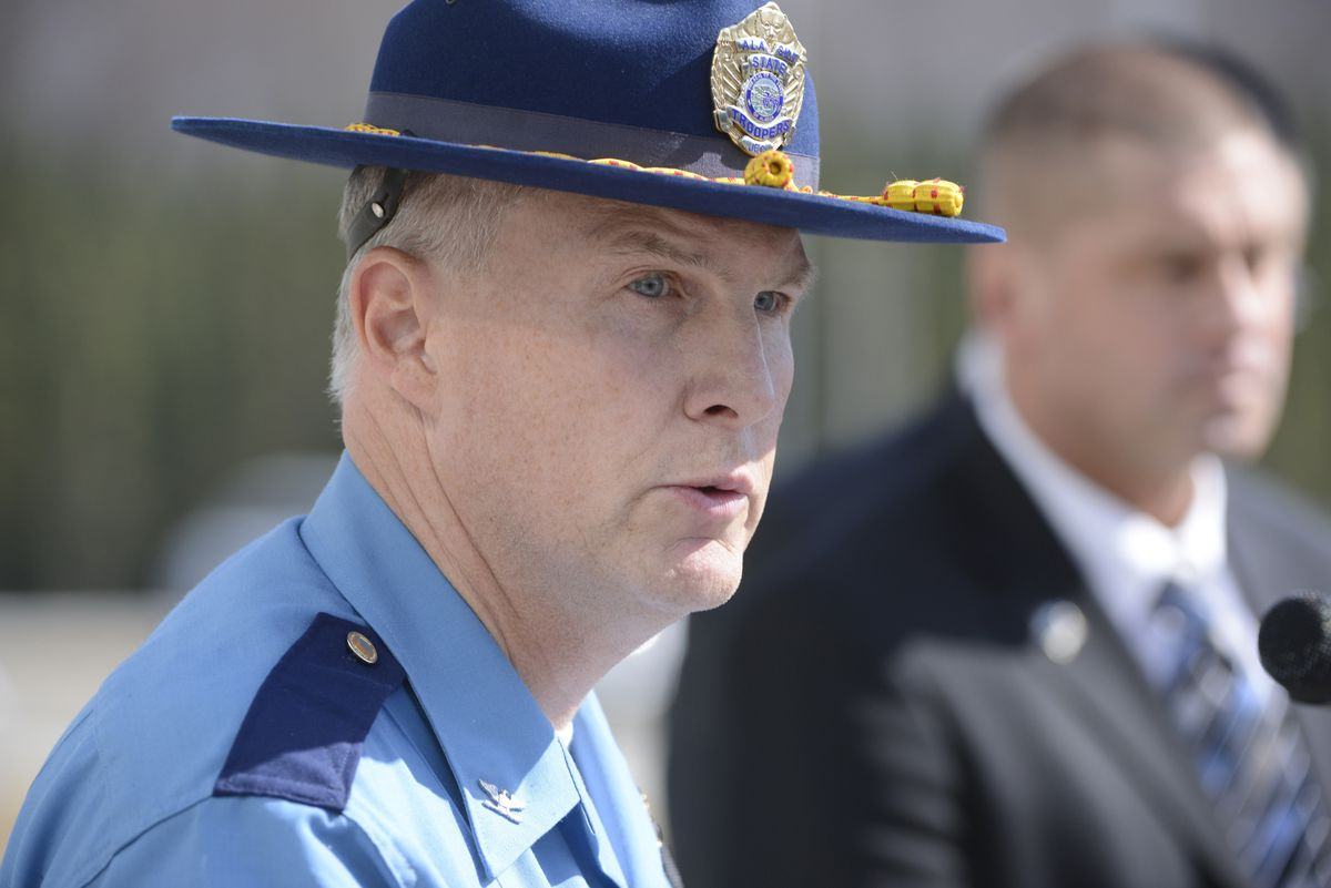 Jim Cockrell with the Alaska State Troopers in 2014. (ADN archive)