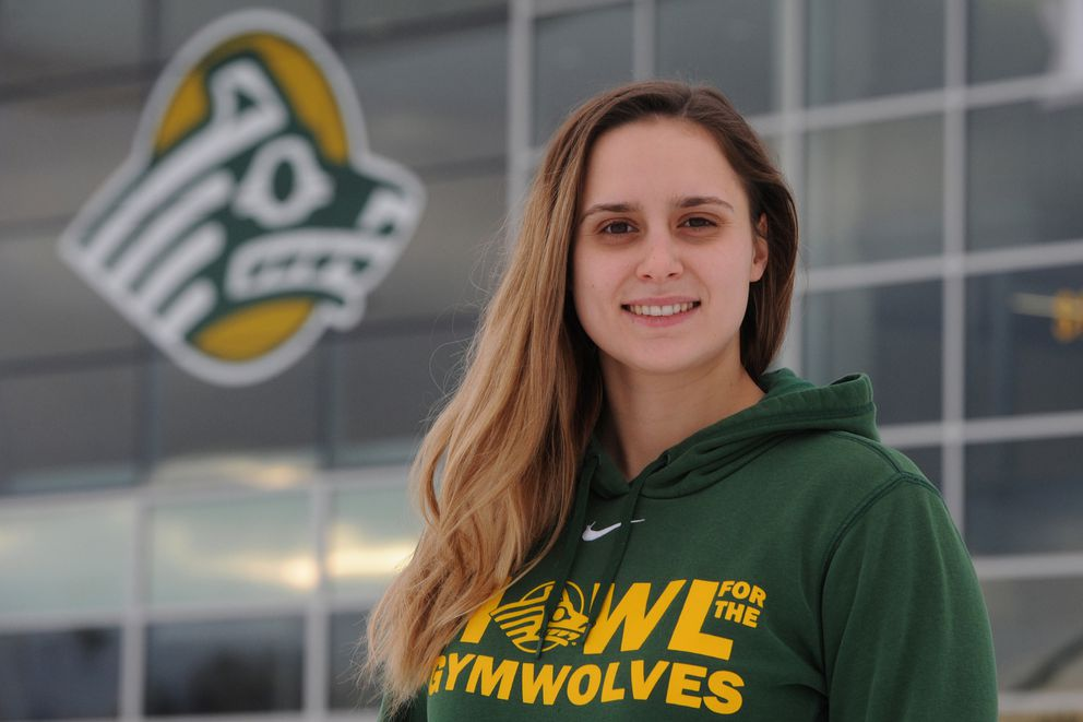 Marie-Sophie Boggasch became UAA's interim head gymnastics coach in July. The school proposed cutting the team in August. (Bill Roth / ADN)