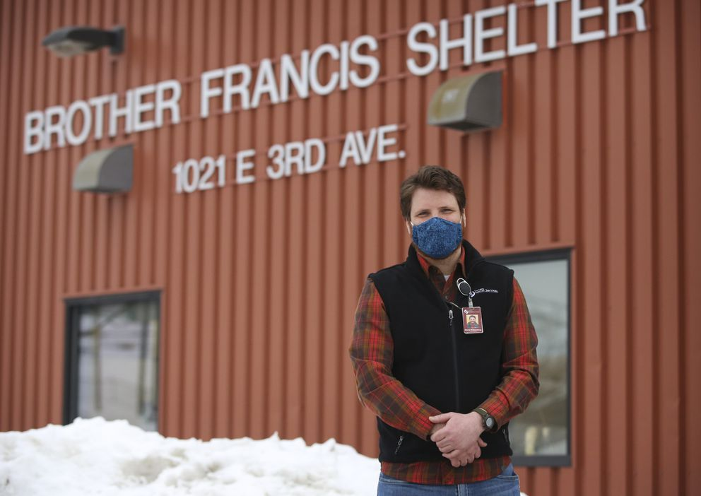David Rittenberg, program director at the Brother Francis Shelter in Anchorage, photographed on March 9, 2021. (Emily Mesner / ADN)