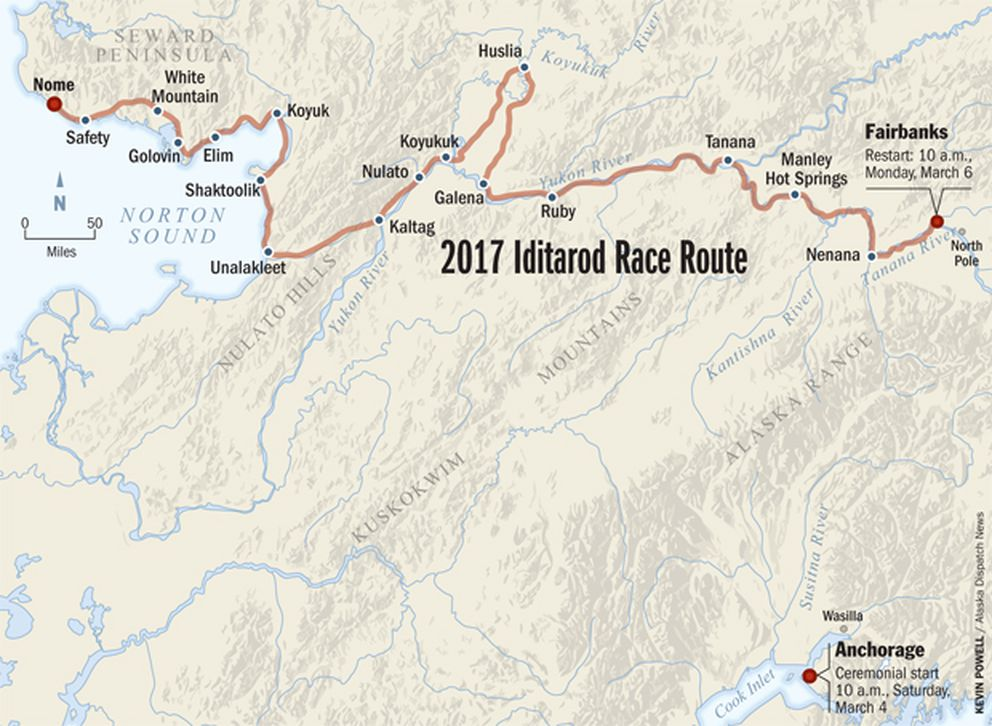 miserable stretches of trail prompt iditarod to move race start to