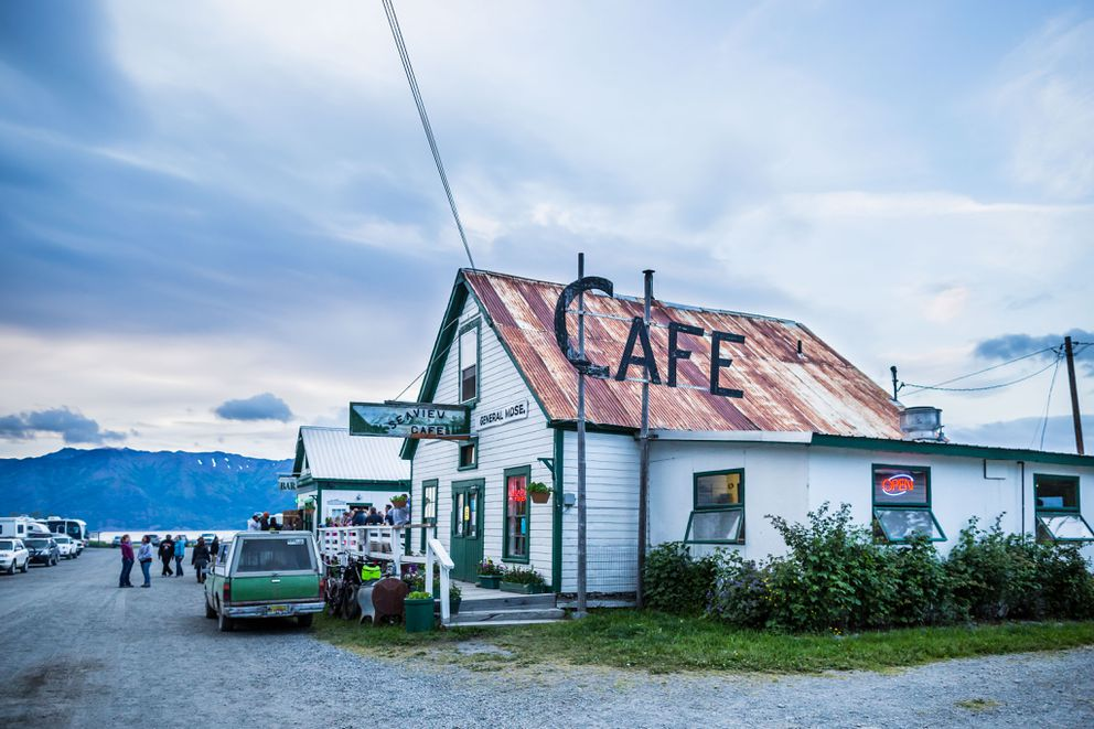The Seaview cafe in Hope. (Loren Holmes / ADN)
