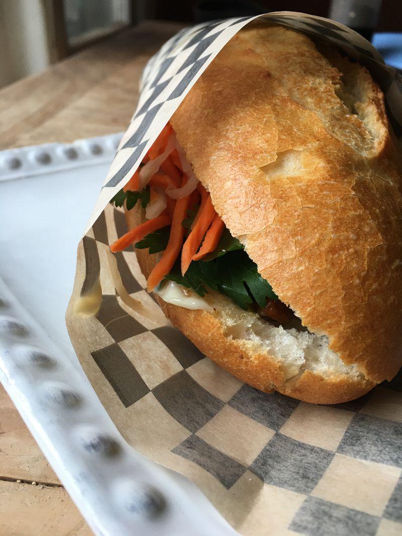 Bahn mi sandwich at Benji's Bakery & Cafe. (Photo by Mara Severin)