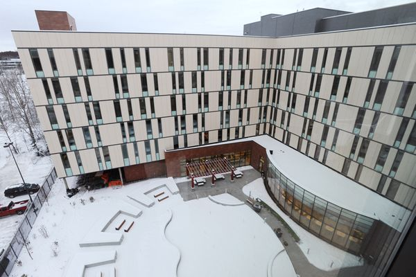 The Alaska Native Tribal Health Consortium will open the recently completed 202-bed patient housing, connected by sky bridge to the Alaska Native Medical Center, on Monday, Jan. 2, 2017. The new facility will create 100 new jobs, adding to the over 95-percent Native hire for ANTHC. Sixty percent of the patients and families traveling to ANMC will be from communities outside of Anchorage. The full cafeteria serving healthy food will be open to the public and a grand opening will be held at noon on Wednesday, Jan. 11. (Bill Roth / Alaska Dispatch News)