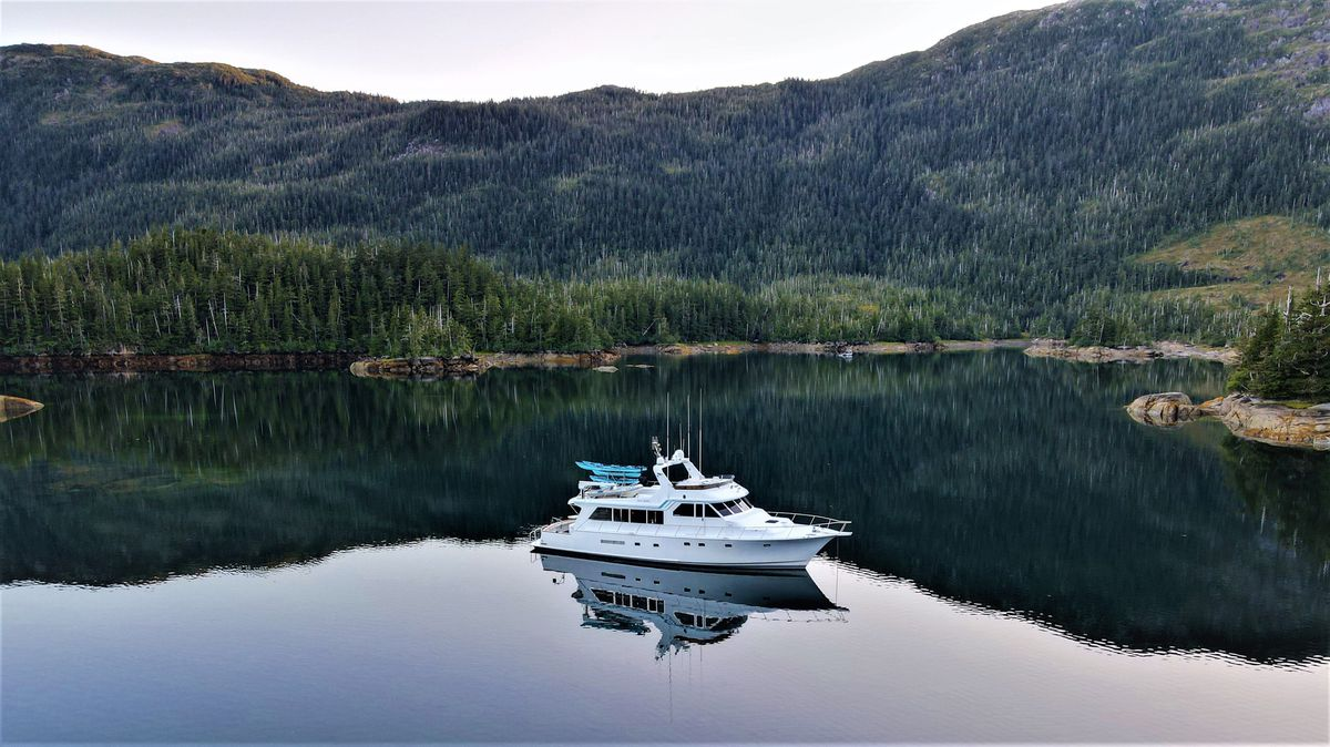 The Sea Mist from the Alaskan Luxury Cruises line is a 78-foot Knight and Carver custom-built yacht. The company is one of several that exclusively offer private charters. (Alaskan Luxury Cruises)