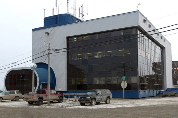 Arctic Slope Regional Corporation building in Utqiagvik (formerly Barrow), Alaska photographed on Thursday, September 24, 2015. (Erik Hill / ADN archive)