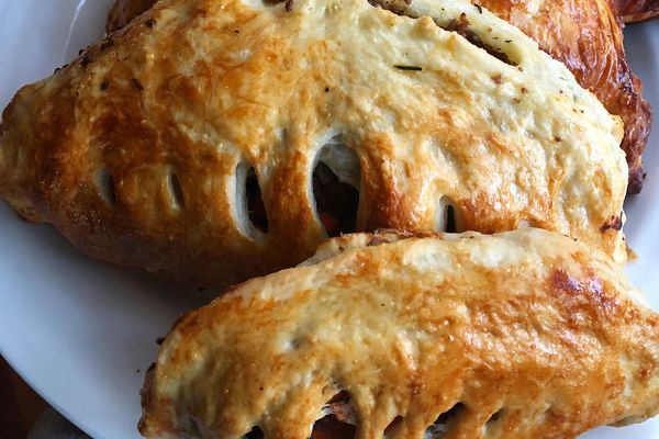 Bison pasties. (Photo: Julia O'Malley/ADN)