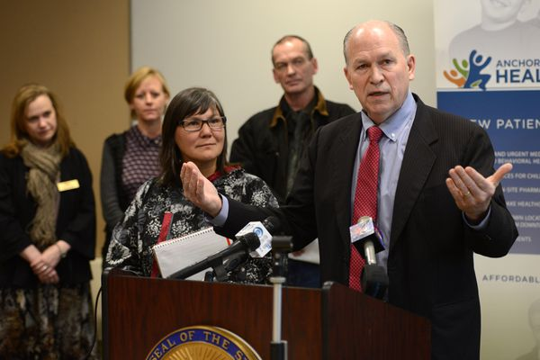 OPINION: Medicaid expansion will deliver care to more Alaskans, save state money and create jobs. Let's not hesitate. Pictured: Valerie Davidson, commissioner of the state Department of Health and Social Services, and Gov. Bill Walker announce their Medicaid expansion plan earlier this month at the Anchorage Neighborhood Health Center.