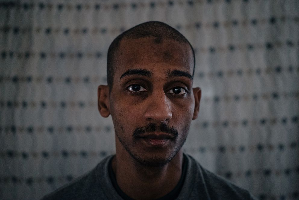 El Shafee Elsheikh, one of two detained British men accused of involvement in the Islamic State's summary executions of Western hostages, photographed in a detention center in Rmeilan, Syria, on Aug. 4. (Photo for The Washington Post by Alice Martins)