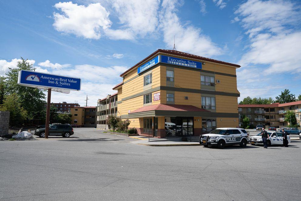 Americas Best Value Inn & Suites hotel, photographed in Spenard on June 18, 2020. (Loren Holmes / ADN)