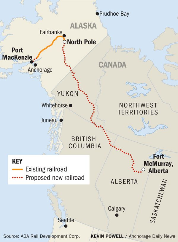 Governor asks Trump for permit needed to connect Alaska railroad to on russia and bering strait map, pa pennsylvania railroad map, state of alaska bering straits map, old alaska railroad map,