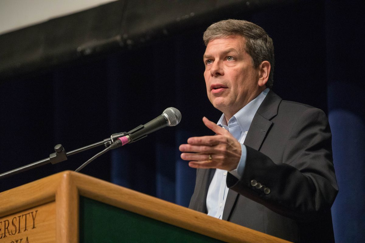 Democratic candidate for governor Mark Begich. (Loren Holmes / ADN)