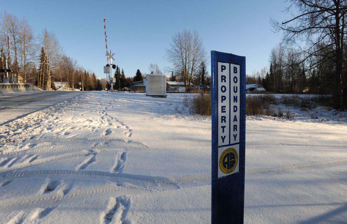 The Alaska Railroad Corporation mainline track passes through the Oceanview neighborhood. (Bill Roth / Alaska Dispatch News)