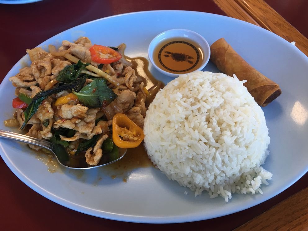 Thai Orchid ka pao lunch special (Photo by Mara Severin)
