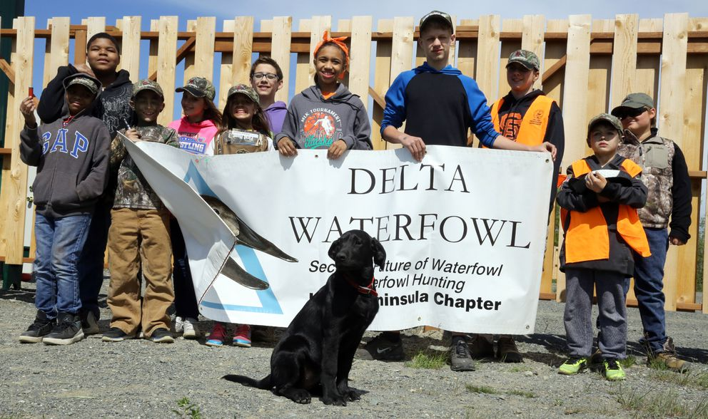 Youngsters attend a Delta Waterfowl Youth Education Day in June. (Photo by Steve Meyer)