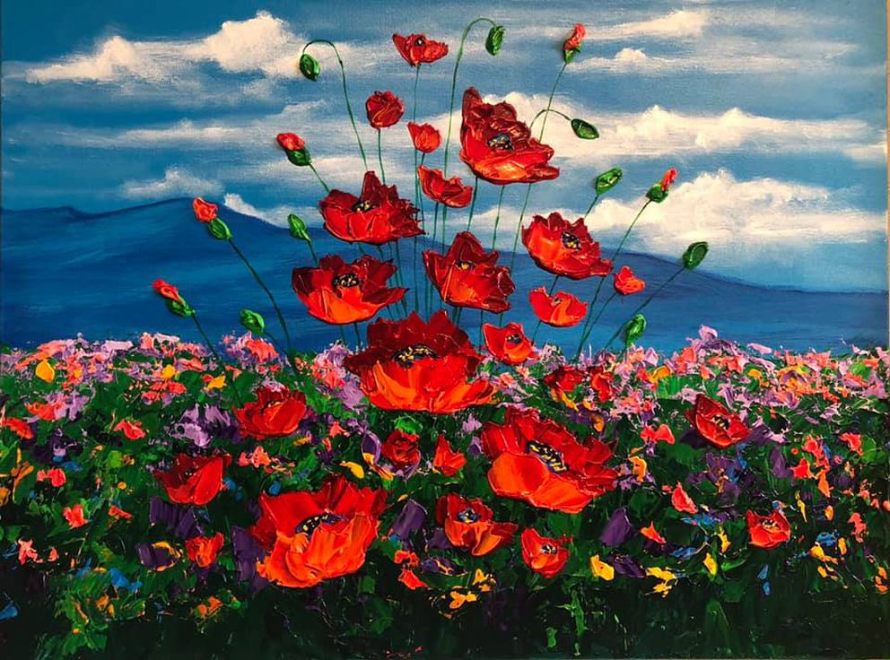 'Alaska Poppy Field ' by Teri Lindseth.