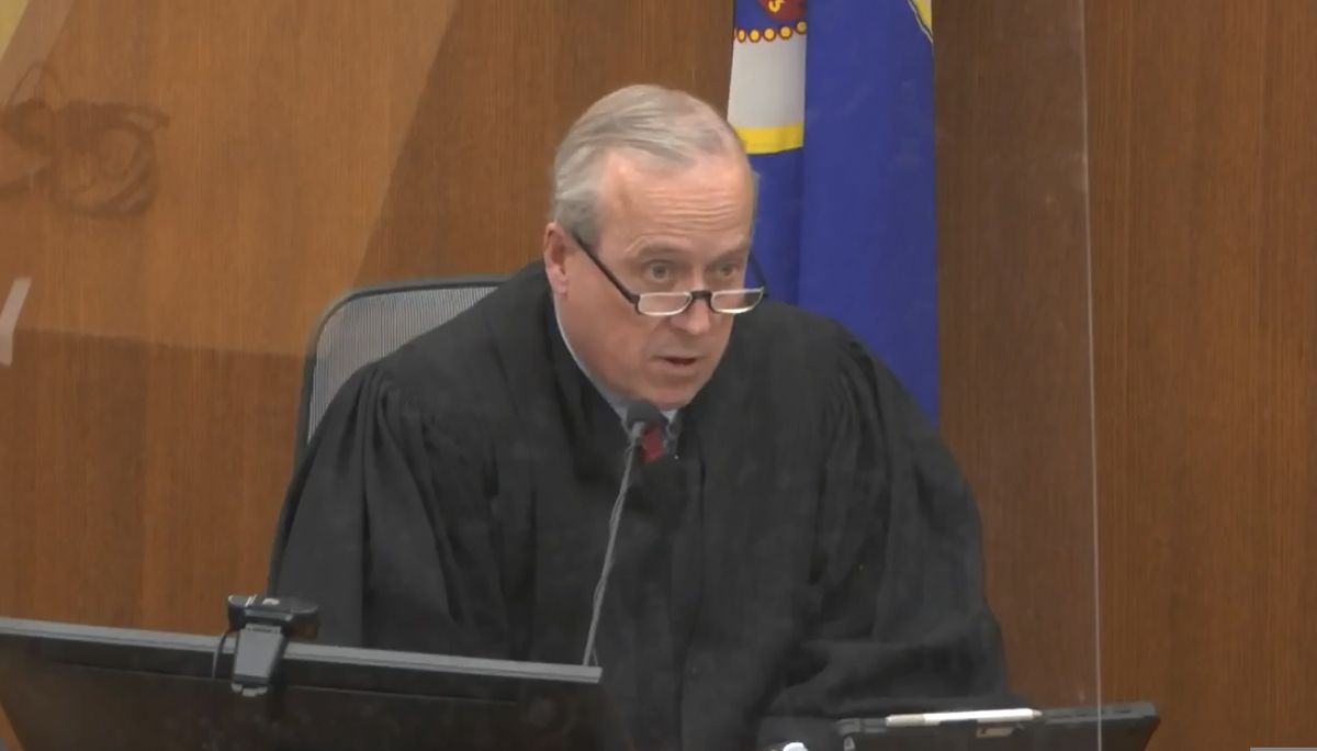 In this screen grab from video, Hennepin County Judge PeterCahill presides over jury selection, Friday, March 19, 2021, in the trial of former Minneapolis police officer Derek Chauvin at the Hennepin County Courthouse in Minneapolis, Minn. Chauvin is charged in the May 25, 2020, death of George Floyd. (Court TV via AP, Pool)