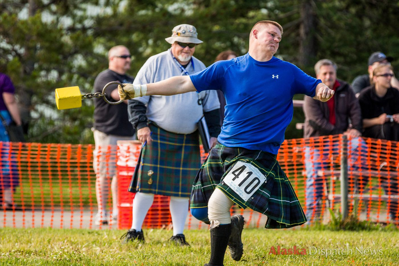 LOREN HOLMES / Alaska Dispatch James Gibson competes in the Men's Amateur A class in the weight throw at the Alaska Scottish Highland Games on Saturday, June 28, 2014 in Palmer.