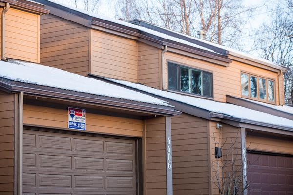 A condo for sale in the Jewel Lake neighborhood of Anchorage, Alaska on January 7, 2015.