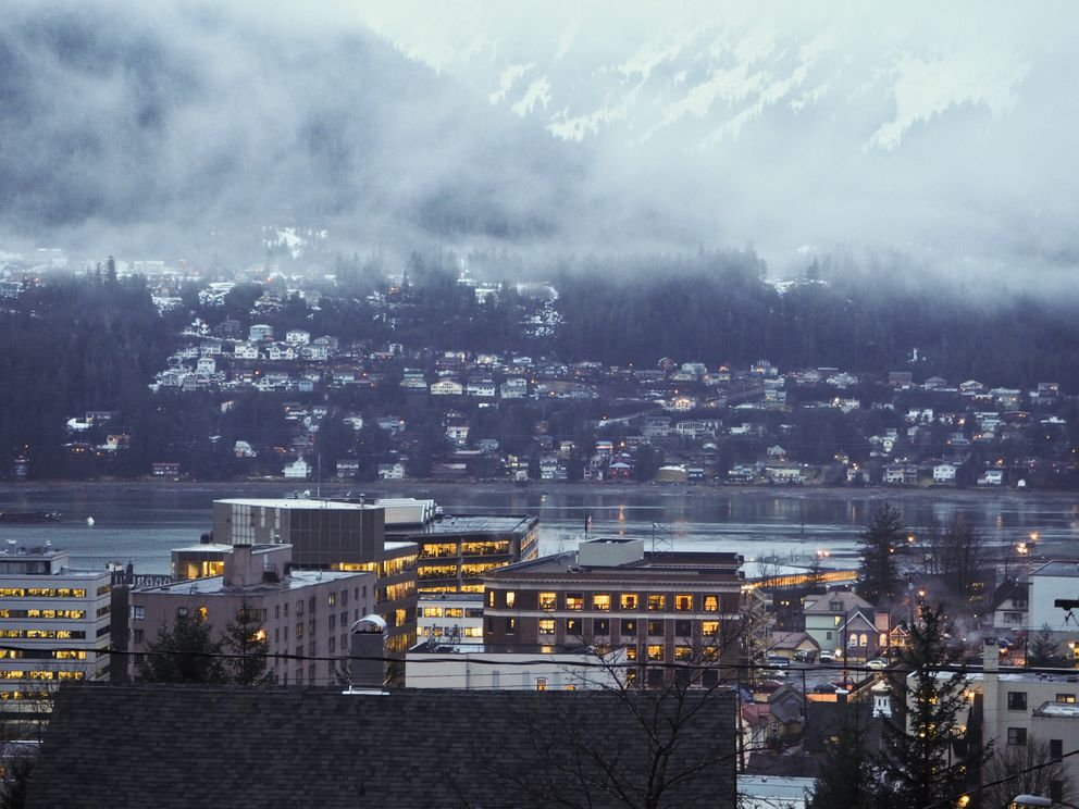 Downtown Juneau and the Capitol on Jan. 17 (Marc Lester / Alaska Dispatch News)