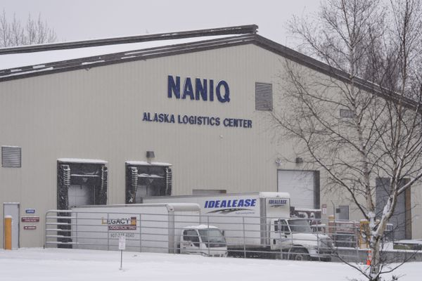 Naniq Global Logistics is located on Kulis Drive in Anchorage. Photographed Dec. 2, 2019. (Marc Lester / ADN)