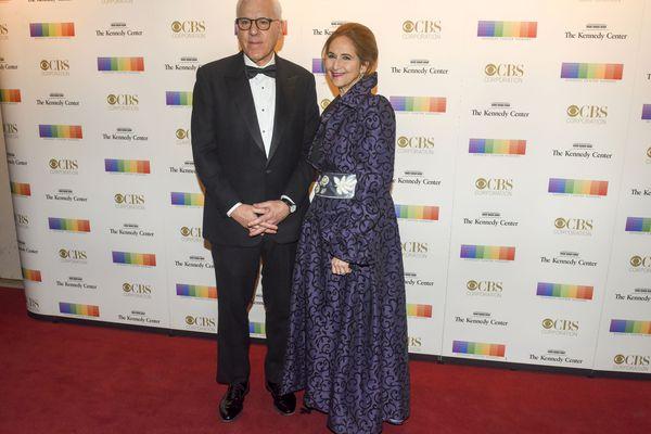 David M. Rubenstein and his wife, Alice Rogoff, at the 2016 Kennedy Center Honors at the Kennedy Center. MUST CREDIT: Washington Post photo by Jahi Chikwendiu