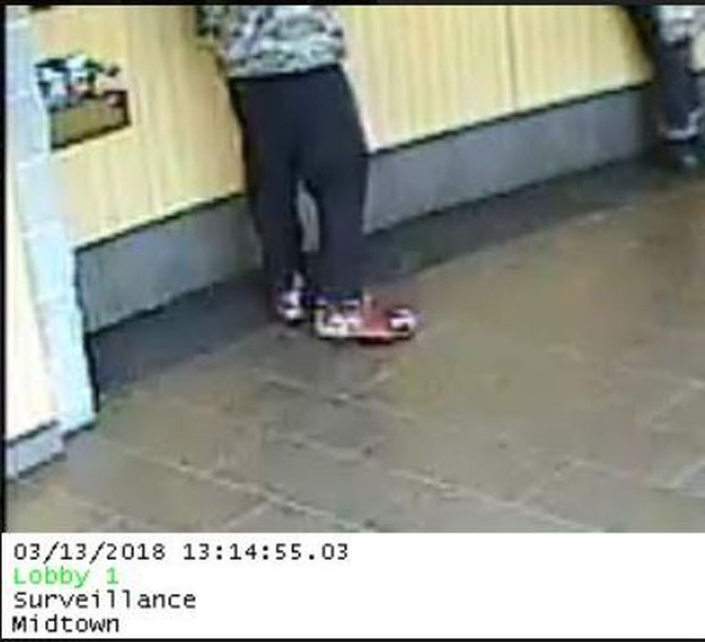The suspect's shoes. March 13, 2018. (FBI)