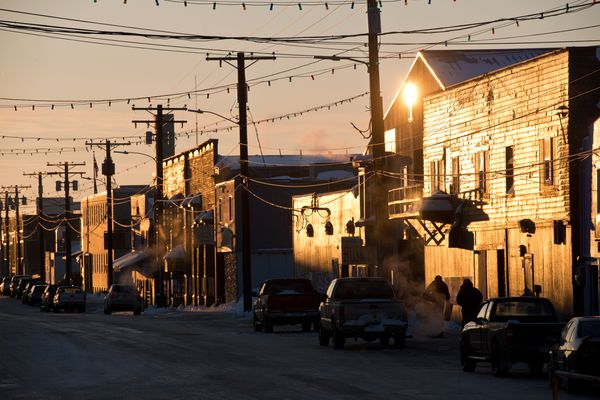 Front Street in Nome on March 14, 2017. (Marc Lester / Alaska Dispatch News)
