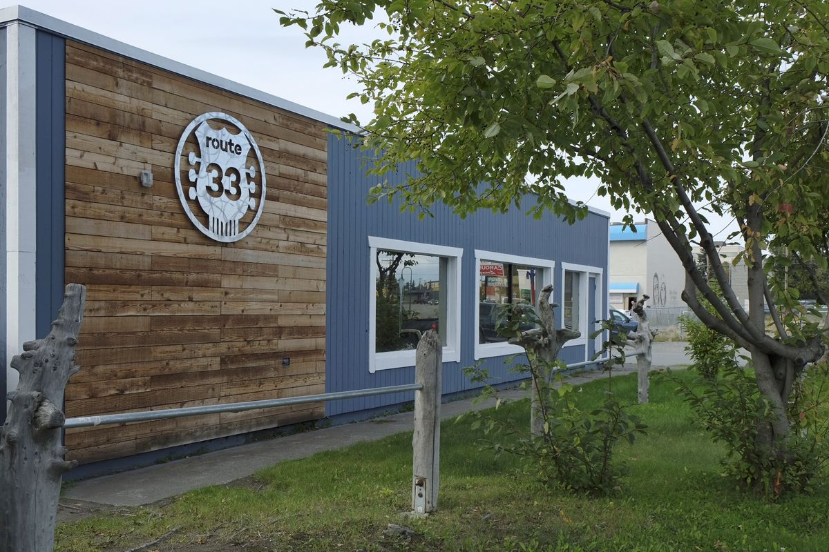 The building on Spenard Road that once housed a Southern-style restaurant called Route 33 — and before that, the TapRoot restaurant and music venue — is now slated to become a pop-up restaurant. (Marc Lester / ADN)