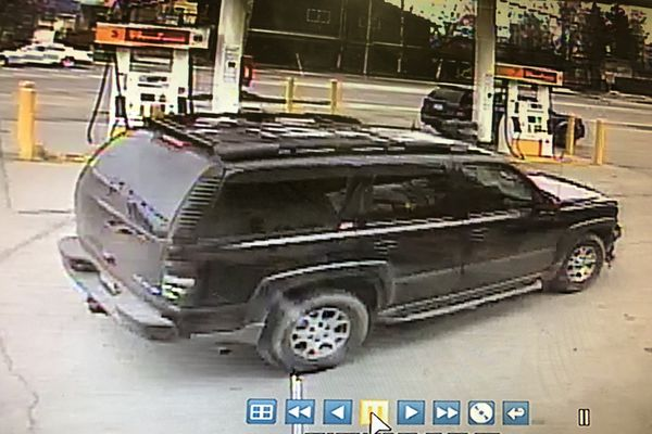 Image of the vehicle used in a robbery at the Shell gas station on 810 W. Tudor Road on Tuesday, April 17, 2018. (Photo via Anchorage Police Department)