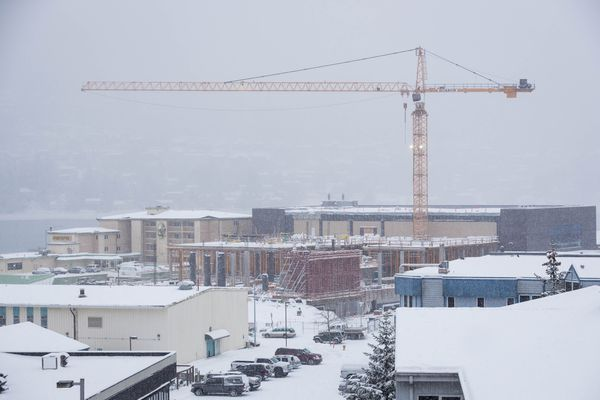 The new Alaska State Museum under construction in Juneau, November 30, 2014.