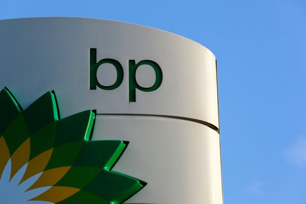 A BP logo is seen at a petrol station in London, January 15, 2015. (Luke MacGregor / reuters file)