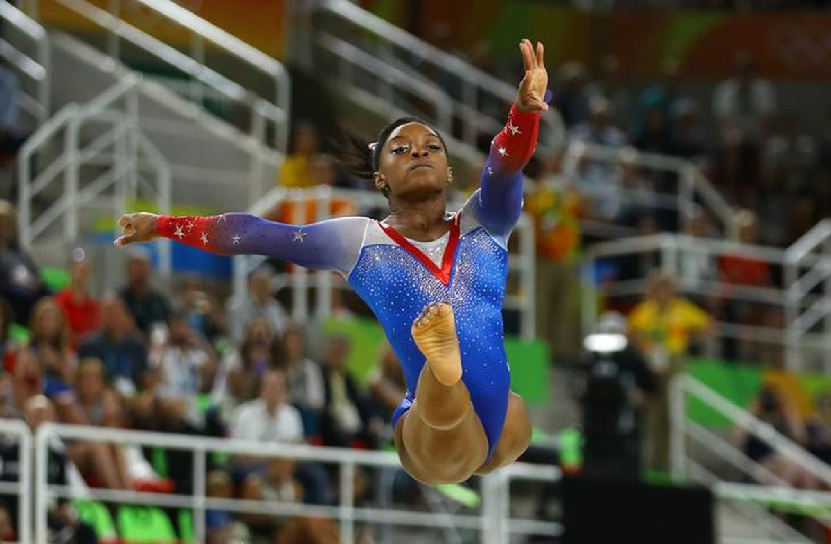 Simone Biles competes in the 2016 Rio de Janerio Olympics. REUTERS/Mike BlakePicture Supplied by Action Images
