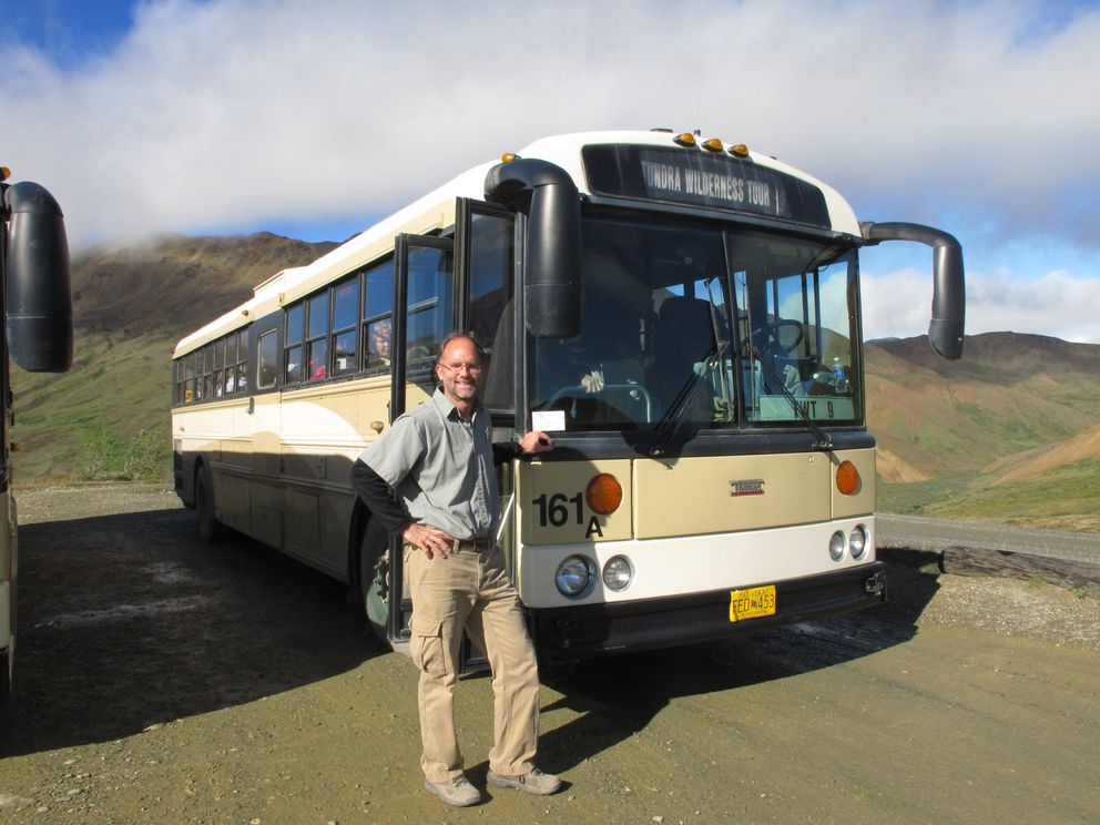 Bill Watkins drives buses in Denali National Park. Photographed in 2012. (Photo provided by Bill Watkins)