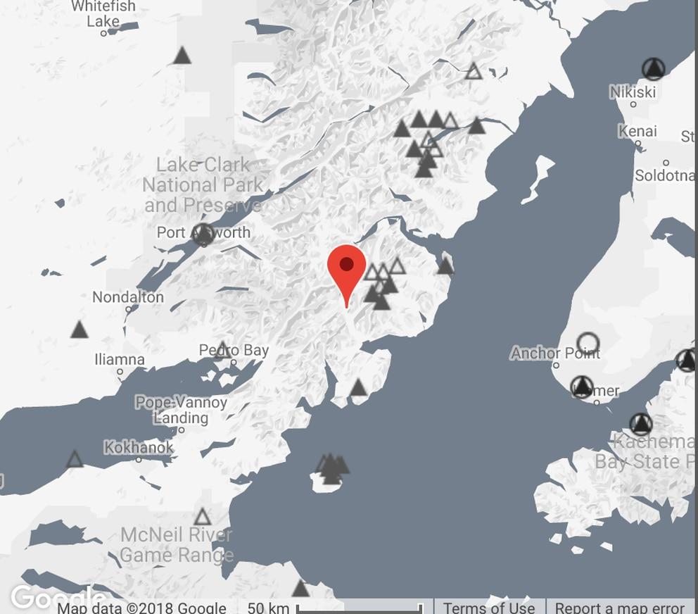 South Alaska Map.Earthquake Estimated At Magnitude 5 7 Rattles Southcentral Alaska