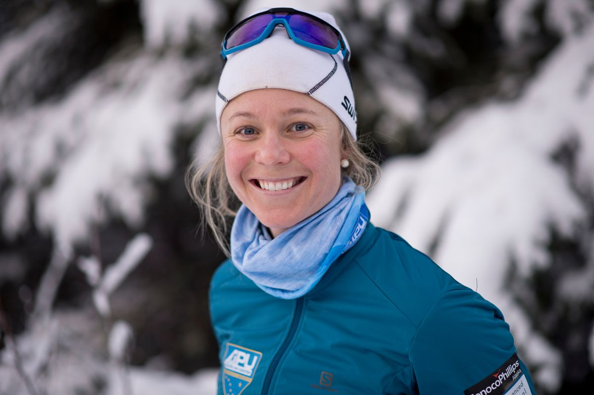 Sadie Maubet Bjornsen, shown here on the Hillside ski trails last month, is skipping the first part of the World Cup season. (Marc Lester / ADN)